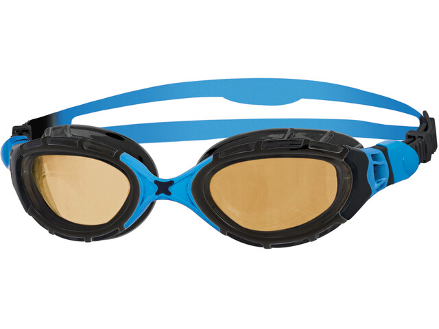 Zoggs Predator Flex Goggle Polarized Ultra Black/Blue/Copper